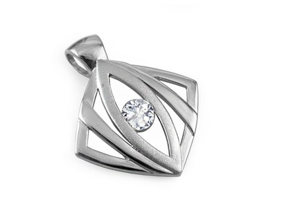 925Sterling Silver Pendant decorated with cubic zirconia