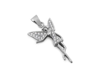 Silver Fairy pendant with zircons