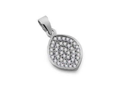 925 Silver Rhodium plated decorated with Cubic zirconia  Pendant for Ladies