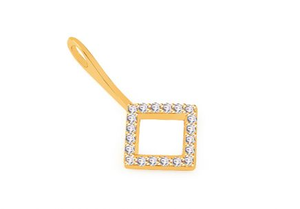 Gold-plated 925Silver pendant with cubic zirconia