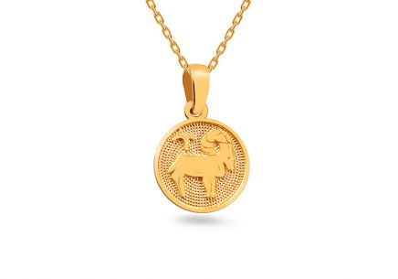 Gold pendant sign of Aries