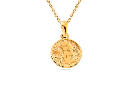 Gold pendant sign of Virgo