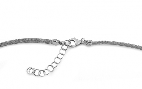 Rhodium plated 925 Sterling Silver Necklace - IS1851R
