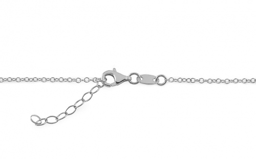 Rhodium plated 925 Sterling Silver Necklace - IS1535A