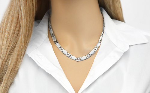 Rhodium plated Silver chain for Ladies