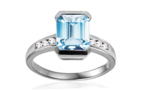 Engagement Rings - Aquamarine
