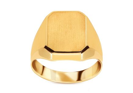 Men's Gold Matte Ring