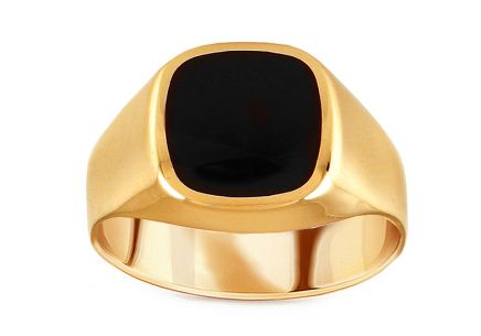 Men's Gold Onyx Ring