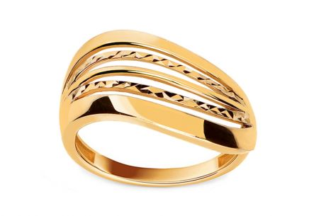 Gold Engraved Ring