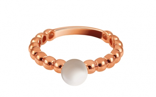 Rose Gold Engagement Ring with Pearl Pelipa - IZ13263R
