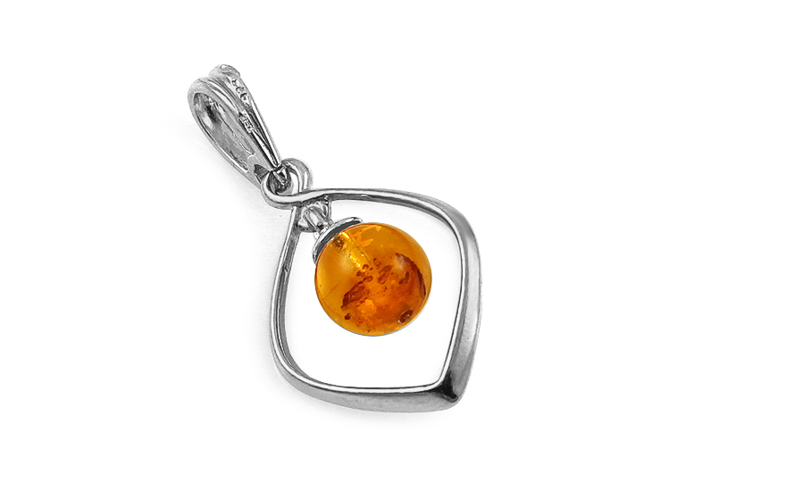 Silver Amber Pendant - IS2004P