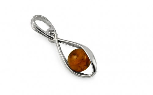 Silver Amber Pendant - IS2007P