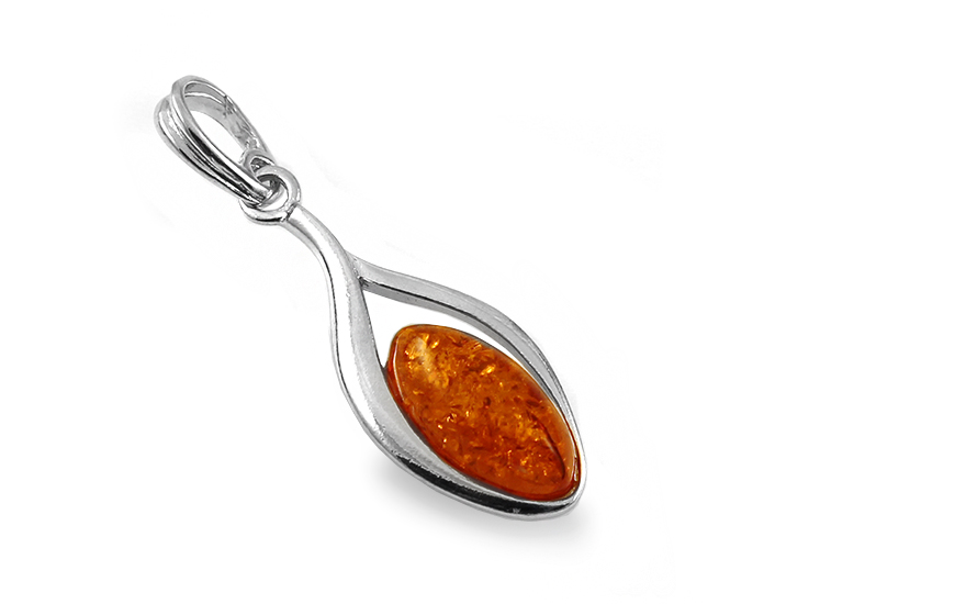 Silver Amber Pendant - IS2036P