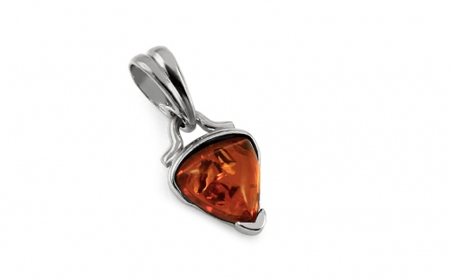 Silver Amber Pendant - IS2055P