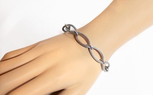 Silver intertwined bracelet  - IS1835