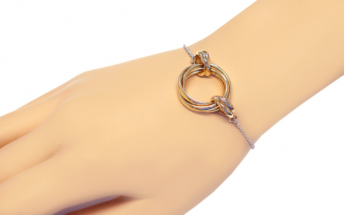 Sterling Silver bracelet with Rings pendant