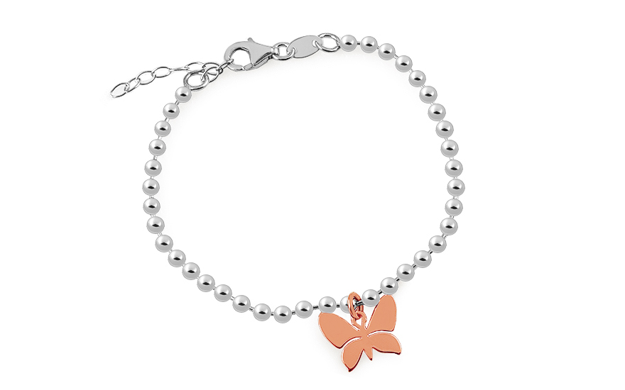 Silver bracelet with butterfly - IS288R
