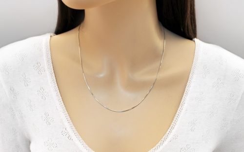 Rhodium plated sterling Silver chain