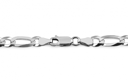 Rhodium plated Silver chain Figaro