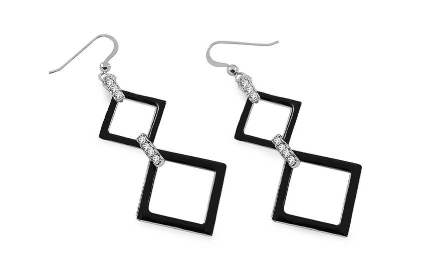 Silver earrings fashion design