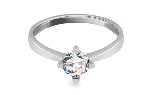 Silver engagement ring with zircon - IS3992