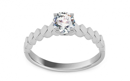 Silver engagement ring with zircon - IS3972