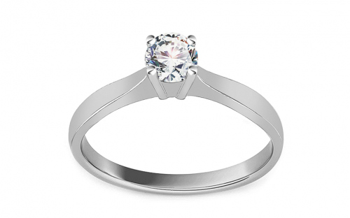 Silver engagement ring with zircon - IS3985