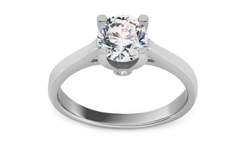 Rhodium plated Sterling Silver ring designed with cubic zirconia - IS3958