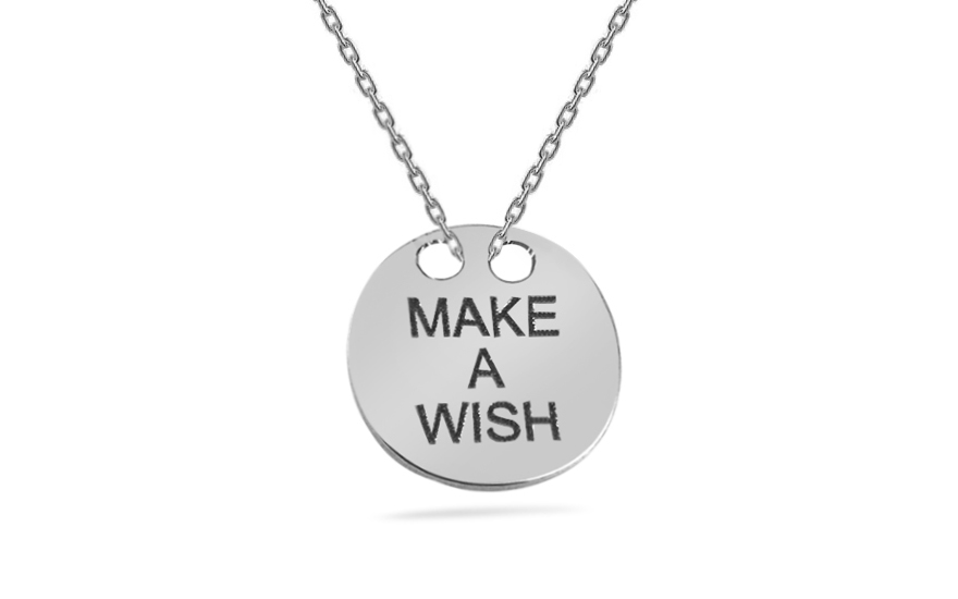 Sterling Silver Necklace Make a Wish - IS552