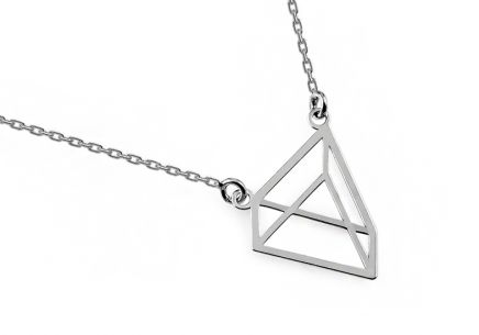 Silver Pyramid Necklace - IS2083B