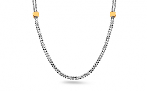 Silver gold plated necklace - IS422
