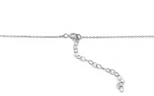 Rhodium plate Silver necklace Mint for Women - IS589