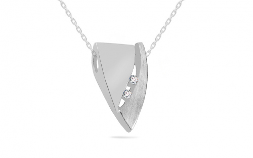 925 Silver Rhodium plated decorated with Cubic zirconia  Pendant for Ladies - IS656P