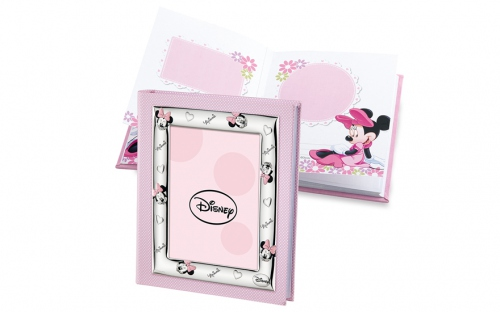 Photo album Minnie decorated with silver - D127-2RA