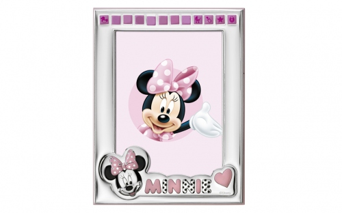Silver plated photo frame Minnie - D158-4LRA