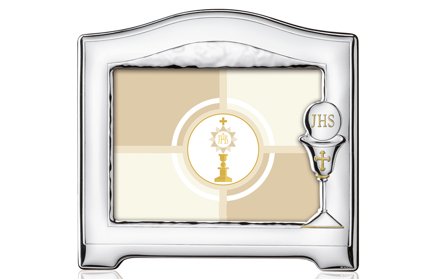 Silver plated photo frame - B576