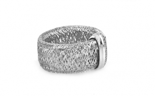 Sterling Silver Ring Flexi White