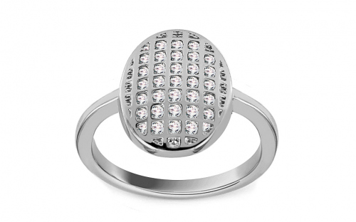 Rhodium plate 925 Silver ring decorated with cubic zirconia - IS3253