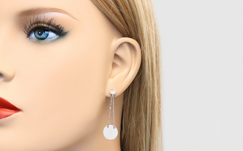 Silver Women's Earrings - IS291N