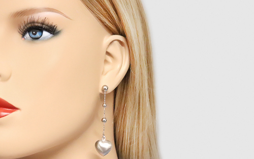 Silver Women's Earrings - IS305N