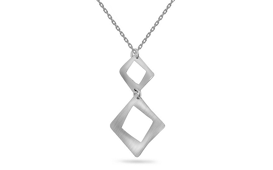 Silver Womens Necklace - IS364AN