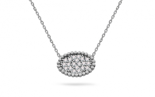 Silver Womens Necklace - IS544