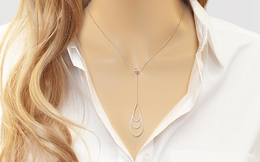 Silver Womens Necklace - IS1137