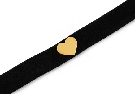 Choker necklace with gold-plated silver heart - IS2198