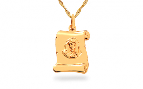 Gold plated Our Lady - IZ6606