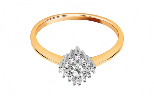 Gold engagement ring with Diane zircons - CS9RI1915