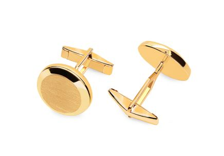 Gold matt Cufflinks