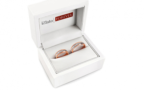 Wedding rings two tone width 5 to 6 mm - STOB234VR