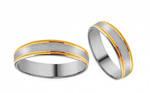 Wedding bands engraved width 5mm - RYOB216