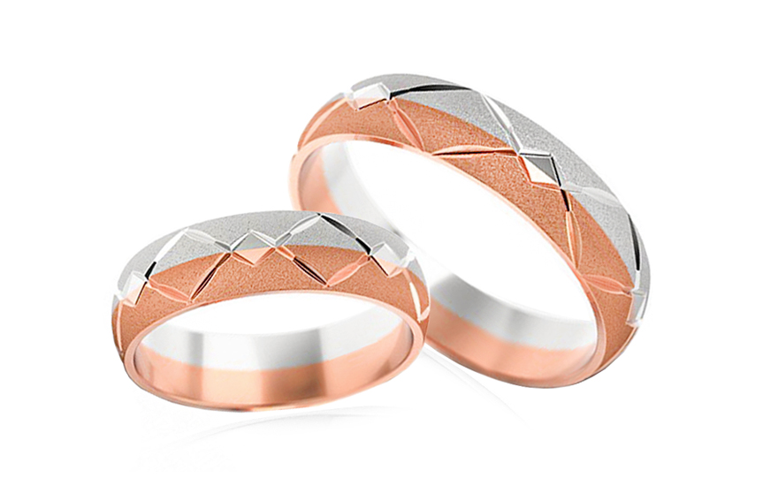 Wedding bands engraved width 5mm - STOB030-5R